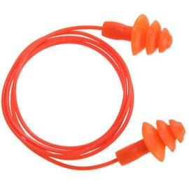 EP04 - Újrahasználható zsinóros TPE füldugó (50 pár) - narancs