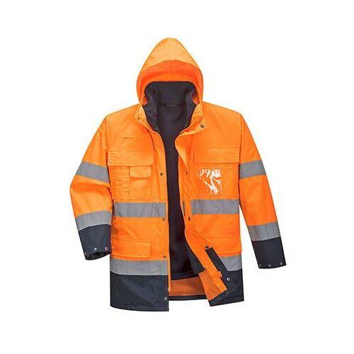 S162 - Hi-Vis Lite 3 in 1 kabát - narancs/tengerészkék