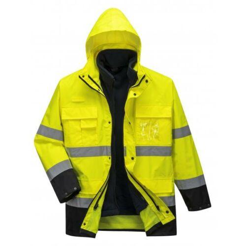 S162 - Hi-Vis Lite 3 in 1 kabát - sárga/tengerészkék