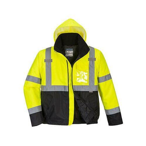S363 - HiVis Value Bomber kabát - sárga/fekete