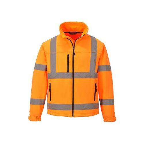 S424 - Jól láthatósági Softshell dzseki (3L) - narancs