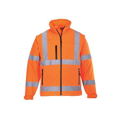 S428 - Jól láthatósági Softshell dzseki - narancs