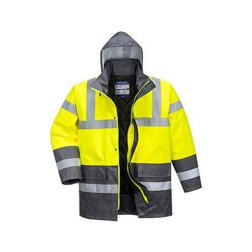 S466 - Kontraszt Traffic kabát - Sárga / Szürke
