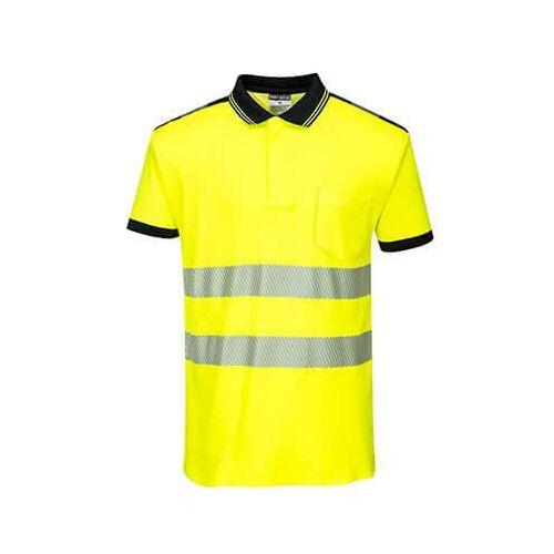 T180 - Jól láthatósági Vision pólóing - sárga/fekete