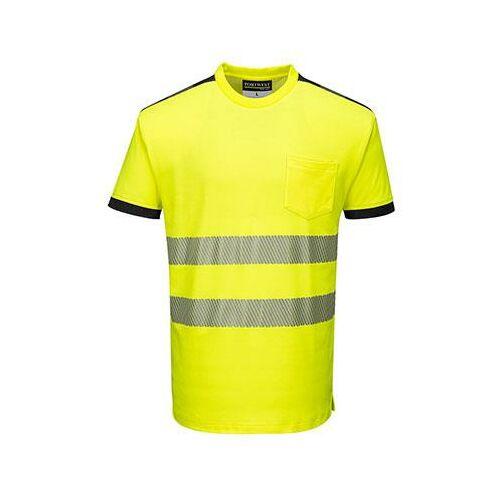 T181 - Jól láthatósági Vision póló - sárga / fekete