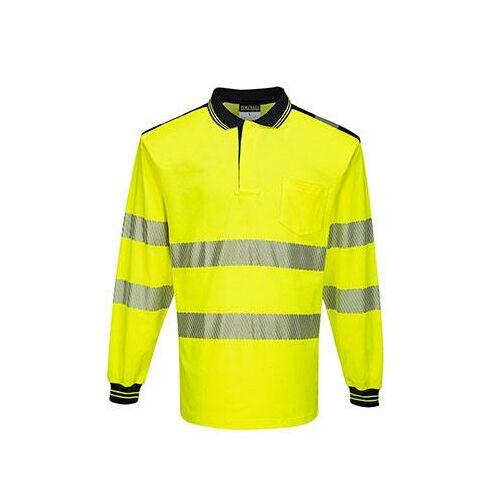 T184 - PW3 Hi-Vis hosszú ujjú pólóing - sárga / fekete