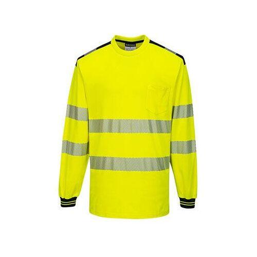 T185 - PW3 Hi-Vis hosszú ujjú póló - sárga / fekete