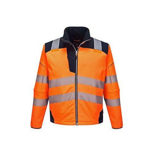 T402 - Vision Hi-Vis softshell kabát - narancs / tengerészkék