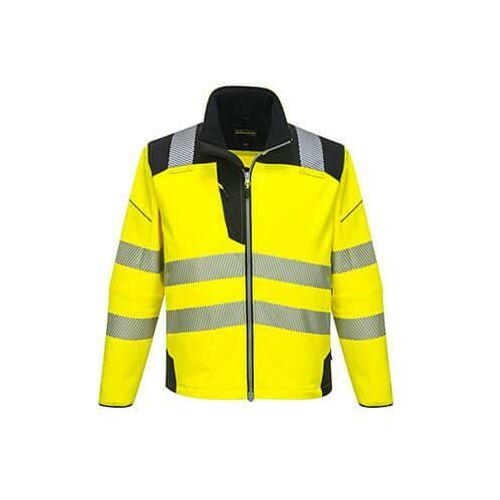 T402 - Vision Hi-Vis softshell kabát - sárga / fekete