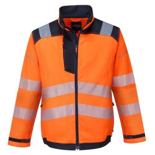 T500 - Vision jól láthatósági kabát - narancs/navy