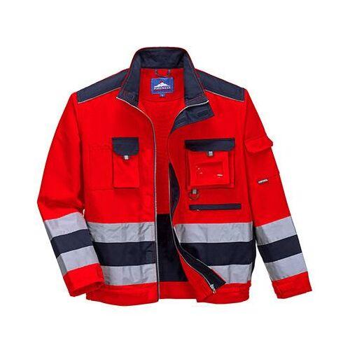 TX50 - Texo Hi-Vis kabát - piros / tengerészkék