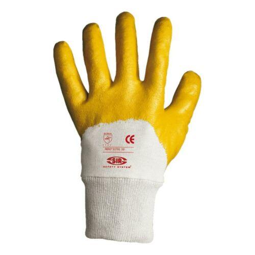 `MIRÓ` nitrilmártott védőkesztyű sárga