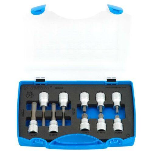 """XZN (ZX) csavarhúzófej-készlet, 1/2"""", műanyag dobozban,/10"""