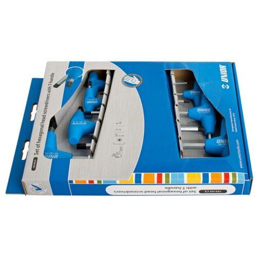 Imbusz (HX) kulcskészlet T-markolattal kartondobozban, HX2.5-HX8/6