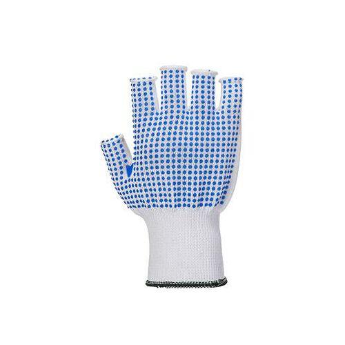 A114 - Ujjatlan polkadot kesztyű - fehér/kék