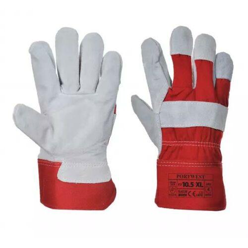 A220 - Prémium bőrkesztyű - piros