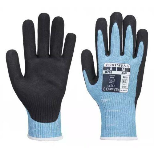 A667 - Claymore AHR vágásbiztos kesztyű - kék/fekete