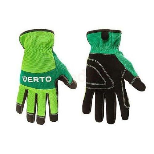 """Verto Védőkesztyű bőr 9"""" zöld"""