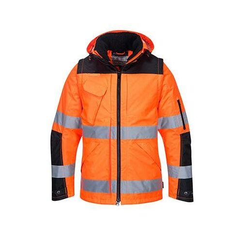 C469 - 3 az 1-ben kabát - narancs/fekete