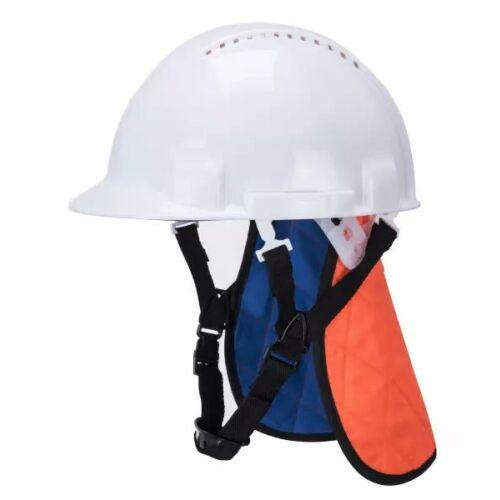 CV03 - Hűtő fejvédő nyakárnyékolóval - narancs/kék