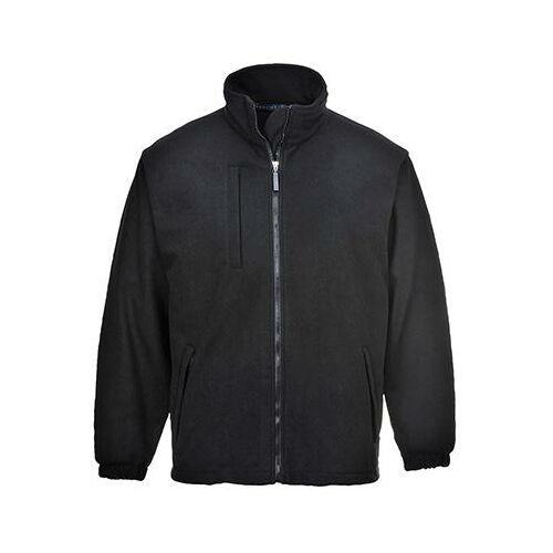 F330 - BuildTex laminált polár pulóver - fekete