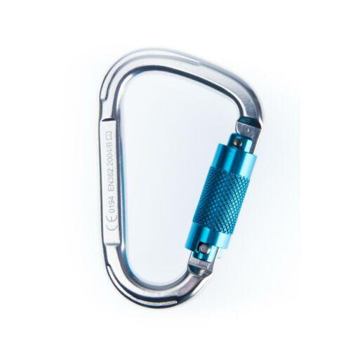 FP32 - Aluminium Twist Lock Karabiner - ezüst/kék