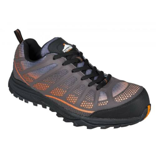 FT36 - Portwest Compositelite Low Cut Spey S1P Trainer - narancs/fekete