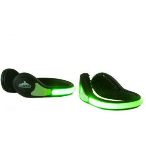 HV08 - Világító lábbeli LED / 1 pár / - zöld