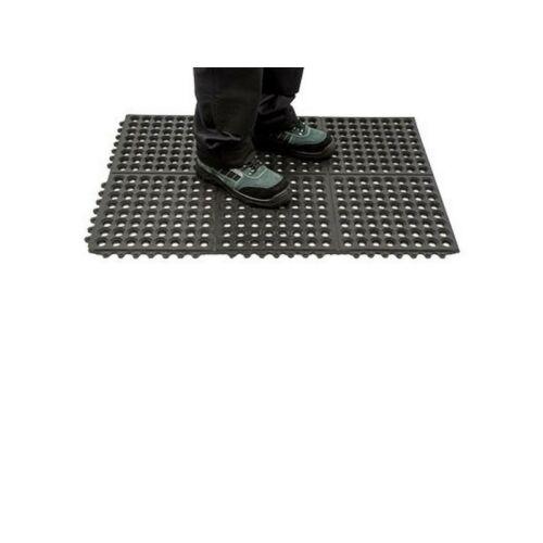 MT52 - Erősített álláskönnyítő szőnyeg - fekete