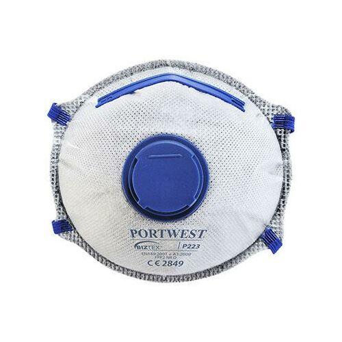 P223 - FFP2 aktívszenes szelepes Dolomit légzésvédő maszk (10db)