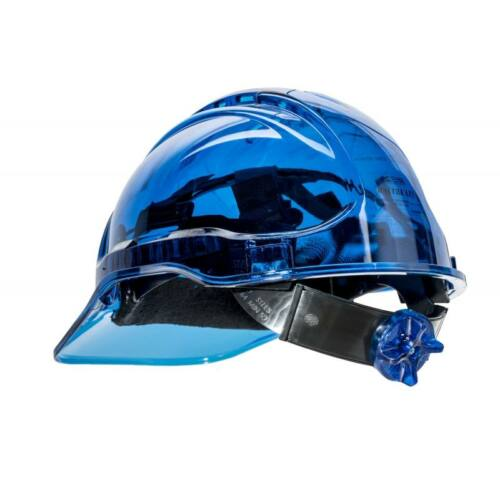 PV60 - Peak View Plus gyorsbeállítós, átlátszó védősisak, szellőző - kék