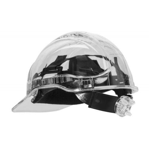 PV60 - Peak View Plus gyorsbeállítós, átlátszó védősisak, szellőző -víztiszta