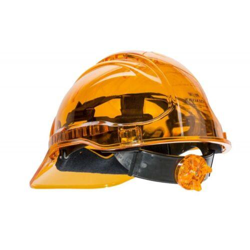 PV60 - Peak View Plus gyorsbeállítós, átlátszó védősisak, szellőző - narancs