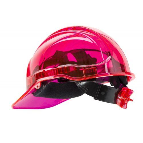 PV60 - Peak View Plus gyorsbeállítós, átlátszó védősisak, szellőző - pink