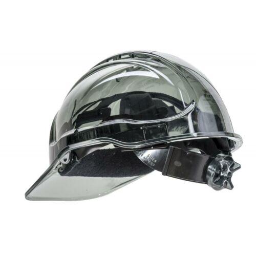 PV60 - Peak View Plus gyorsbeállítós, átlátszó védősisak, szellőző - sötétített